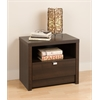 Prepac Espresso Series 9 Designer - 1 Drawer Nightstand