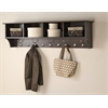 "Prepac Espresso 60"" Wide Hanging Entryway Shelf"