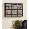 Espresso Triple Wall Mounted Storage