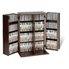 Prepac Espresso Locking Media Storage Cabinet with Shaker Doors