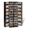 Prepac Espresso Grande Locking Media Storage Cabinet with Shaker Doors