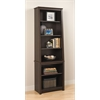 Prepac Espresso Tall Slant-Back Bookcase
