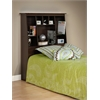 Prepac Espresso Twin Tall Slant-Back Bookcase Headboard