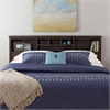 Prepac Espresso King Bookcase Headboard