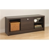 Prepac Espresso Series 9 Designer Cubbie Bench with Door