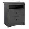 Prepac Riverdale 2-Drawer Nightstand, Washed Black