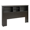 Prepac Riverdale Double / Queen Bookcase Headboard, Washed Black