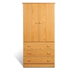 Prepac Oak Edenvale 3 Drawer Wardrobe