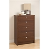 Prepac Warm Cherry Series 9 Designer - 5 Drawer Chest