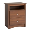 Prepac Riverdale 2-Drawer Nightstand, Warm Cherry