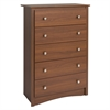 Riverdale 5-Drawer Chest, Warm Cherry
