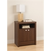 Prepac Warm Cherry Series 9 Designer - Tall 2 Door Nightstand