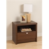 Prepac Warm Cherry Series 9 Designer - 1 Drawer Nightstand