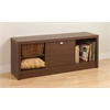 Prepac Warm Cherry Series 9 Designer Cubbie Bench with Door