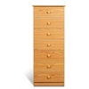 Prepac Oak Edenvale 7 Drawer Tall Chest