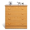 Prepac Oak Edenvale 4 Drawer Chest