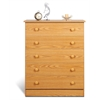 Prepac Oak Edenvale 5 Drawer Chest