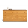 Prepac Oak Edenvale 6 Drawer Dresser