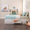 Prepac White Twin Mate's Platform Storage Bed with 3 Drawers