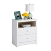 Prepac Calla Tall 2-Drawer Nightstand