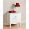 Prepac White Berkshire 2 Drawer Nightstand