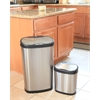 NINE STARS 2 SET MOTION SENSOR TRASH CANS, 16.5 X 11.5 X 26.5 & 12.1 X 8.4 X 15.2