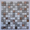 Legion furniture Mix Tile, Copper, White & Brown