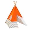 KidKraft Play TeePee - Orange w/ Gray & White Chevron
