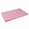 KidKraft Austin Toy Box Cushion- White/Pink Polka Dots
