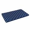 Austin Toy Box Cushion- White/Navy Stars