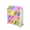 KidKraft Sort It & Store It 12 Bin Unit – White with Pastel Bins