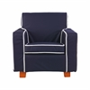 Laguna Chair with Navy Piping & slip cover