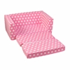 Lil'Lounger Pink with White Polka Dots