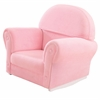 Upholstered Rocker w/Slipcover Pink