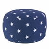 Round Pouf - Navy with White Stars