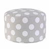 KidKraft Round Pouf - Gray with White Polka Dots