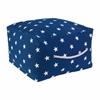 Square Pouf - Navy with White Stars