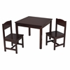 KidKraft Aspen Table and 2 Chair Set - Espresso