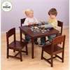 KidKraft Farmhouse Table & 4 Chairs - Pecan