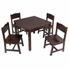 Farmhouse Table & 4 Chairs Espresso
