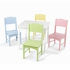 Nantucket Table & 4 Pastel Chairs