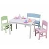 Nantucket Table with Bench and 2 Chairs - Pastel