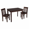 KidKraft Avalon Table II & 2 Chairs Set - Espresso