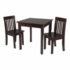 Square Tbl & 2 Avalon Chair Set Espresso