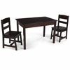 Rectangle Table & 2 Chair Set- Espresso