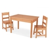Rectangle Table & 2 Chair Set- natural