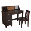 Study Desk with Drawers - Espresso