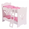 KidKraft Lil Doll Bunk Bed with bedding (accommodates American Girl®Dolls)
