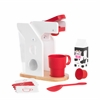 Red & White Coffee Set