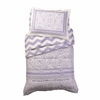 Lace and Chevron Toddler Bedding - Lavender